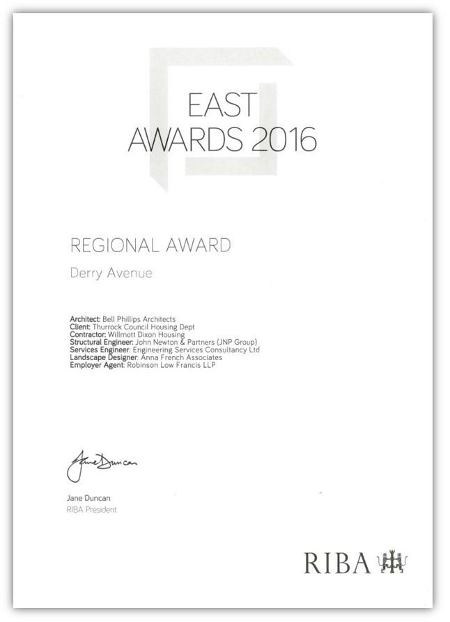 RIBA Regional Award - Derry Ave