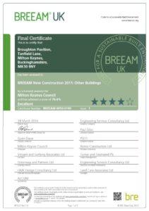 BREEAM EXCELLENT - Broughton Pavilion, Milton Keynes