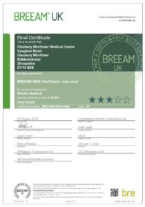 BREEAM VERY GOOD - Cleobury Mortimer Medical Centre