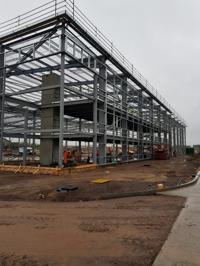 Plot 1A, Link 9 steelwork