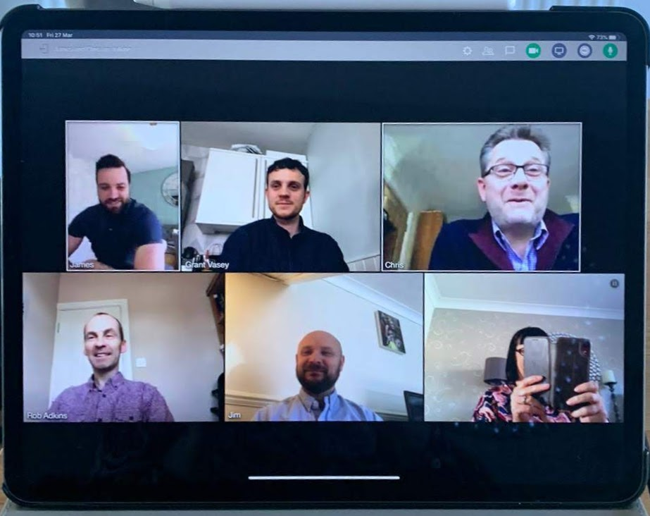 First remote Friday team meeting complete!